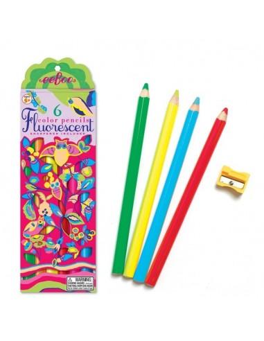 6 Lápices de colores Fluorescentes