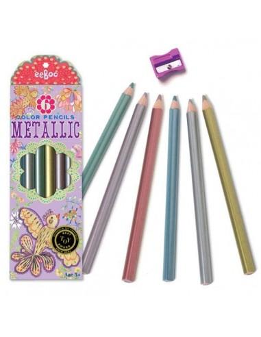 6 Lapices de colores Metálicos...